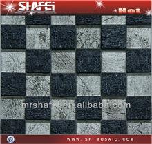 Dark gray resina imitação rocha padrão, Folha de prata da telha de mosaico