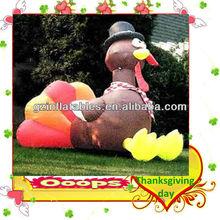 Thanksgiving lovely inflatable turkey cartoon model