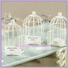 Spring Song White Birdcage Place Card Tea Light Holder