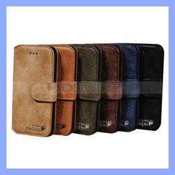 Luxury Golden Phoenix Leather Case for iPhone 5 5S Wallet Case