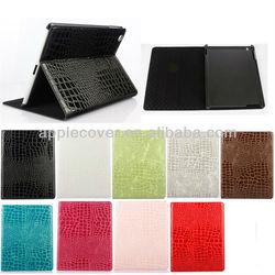 crocodile PU leather case for apple iPad 4