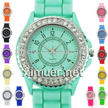 Salable multicolor silicon jelly watch