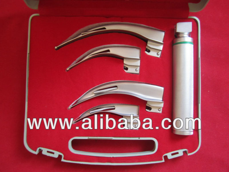 Laryngoscope Blades Macintosh Fiber Optic Macintosh Laryngoscope Blades Fiber Optic Laryngoscope Set
