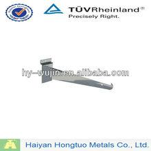 12'' chrome slatwall shelf support brackets