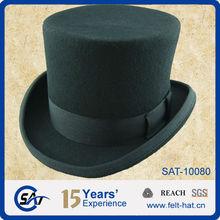 100% Wool Black Noble Top Hat Adult