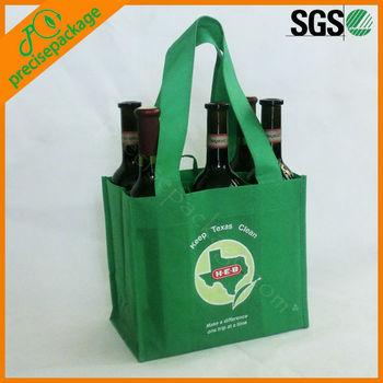 non woven reusable cheap wine bottle tote bags (PRB-919)