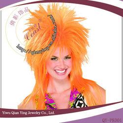 Hot sale yellow spike halloween wigs