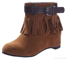 Women suede fashion tassel boots in stock on sale