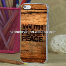 Wood design for iphone 5S case
