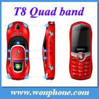 T8 Ferrari Car Mobile Phone + 1.4inch screen