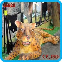 Jungle theme decoration model animatronic animal leopard