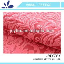 coral fleece polyester jacquard fabric for sofa
