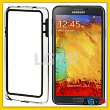 Optical TPU Plastic black Bumper Frame display Case for Samsung Galaxy Note III with 2 colors