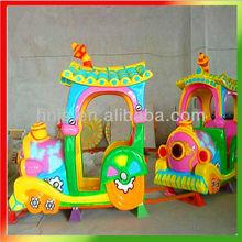 Children outdoor amusement park mini train
