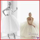 Vintage Strapless Ruffles Tulle Ball Gown Ballet Style Short Wedding Dress