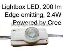 solar led sign lighting 2.4W Edge emitting,Cree,IP65,waterproof,high power