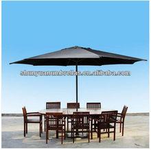 13' FT Feet Black Aluminum Outdoor Patio Umbrella Deck Gazebo Sun Shade Black