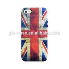 Custom design IMD flag cases for iPhone 5S hybrid cover cases