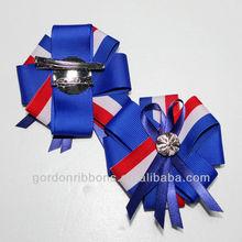 Blue Grosgrain Ribbon Hair Bows,Hair Bows on Snap Clip