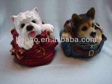 resin craft polyresin puppy dog figurine