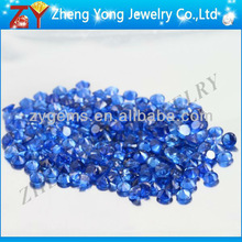 synthetic round blue spinel stone