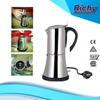 electric stainless steel bialetti-type espresso maker