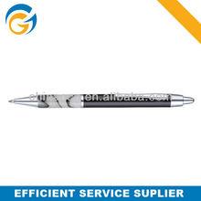 Black Barrel Classic Acrylic Metal Click Ball Pen