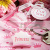 Pink Crown Themed Princess KeyChains Baby Shower Favors