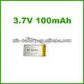 Ultra fina bateria li-ion 3.7v 100 mah lithium polymer recarregável bateria de boa qualidade da bateria oem para blueteeth