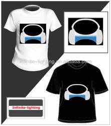 Flashing led tshirt design shop/music led t-shirt Online Shopping