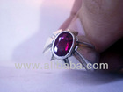Beautiful Dark Red Natural Ruby In Stylish Silver Sterling Ring 925 - DS5
