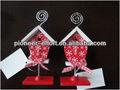 de navidad de madera namecard titular de la casa del pájaro de diseño para la decoración del hogar