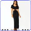 ODM&OEM manufacturies fashion design women getting knotty maxi dress party cocktail dress evening dress shkf56