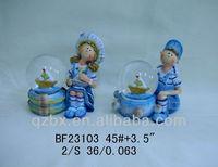 baby souvenir boy and girl water globe