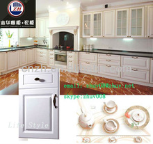 Custom kitchen cabinets with PVC door panel for sale