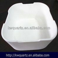 fused silica opaque quartz ceramic crucible container price