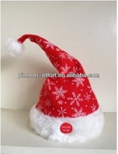 Christmas decoration Musical Moving Hat with Swinging Hat Tail