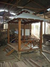 Gazebo with canvas sunbrella roof