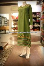 Attractive Green Color Women's Fashion Kurti 2013
