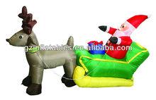 wholesale customized inflatable Christmas Santa deer cartoon model