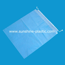 High Transparent Plastic Drawstring Bag with cotton rope