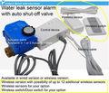 Fugas de agua detector de alarma con dispositivo de auto- apagado de la válvula de sensor inalámbrico conmutador inalámbrico/interruptor de la puerta