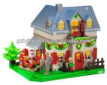 cute inflatable Christmas house Santa child cartoon model