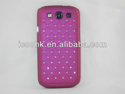 sharp crystal bling pc material case for sumsung s 3