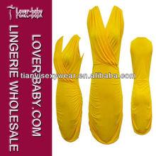 Hot Sexy Yellow Women's Fascinating Lingerie Nighty