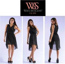Black fashion sleeveness long evening dress party dress women wholesale 2013
