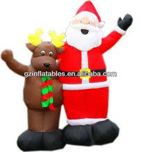 Christmas inflatable Santa and reindeer cartoon model