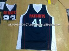 Men's 100% Polyester Custom Reversible Basketball Jersey