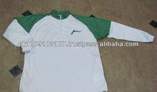 Long Sleeve 100% Polyester Basketball Warm Up Shirts