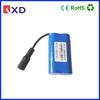 7.4v 2200mah 18650 li-ion rechargeable battery